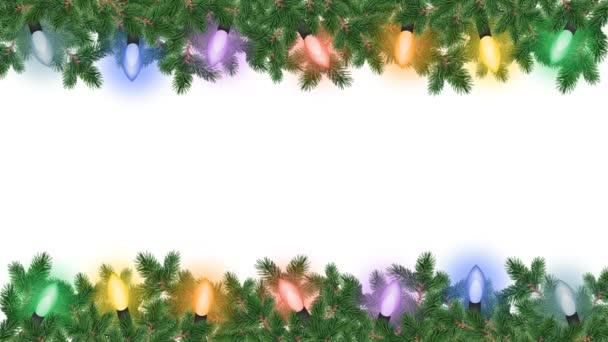 Christmas card with garland animation