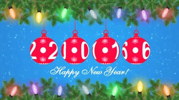 Festive balls on the Christmas tree animation