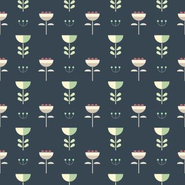 Scandinavian style pattern.  Geometric flower