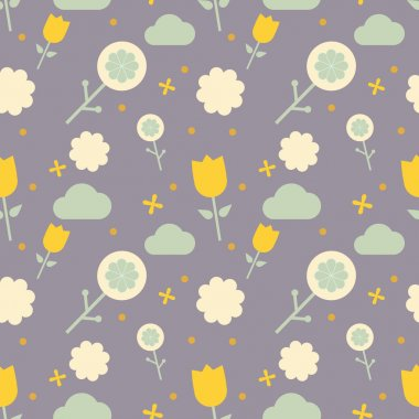 Nordic  style flower pattern