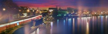 sunset on Dnieper River