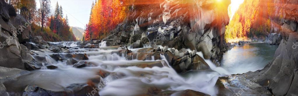 Фотообои Водопад Пробий на реке прут