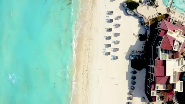 Cancun resort aerial view. Punta Norte beach, Cancun, Mexico. Close up view