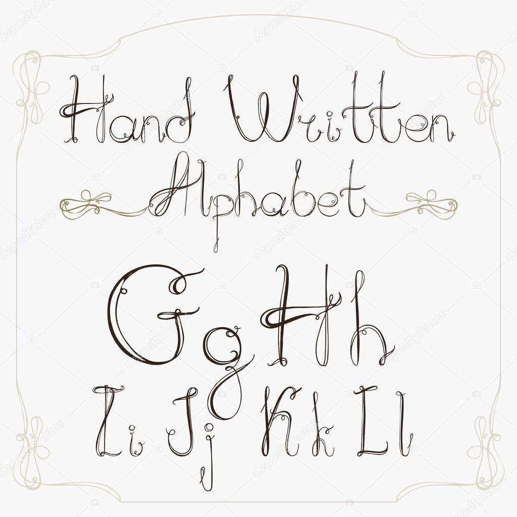 Hand Drawn Decorative Vintage Vector ABC LettersNice Alphabet For Your Design Photo By Lona2010mailru