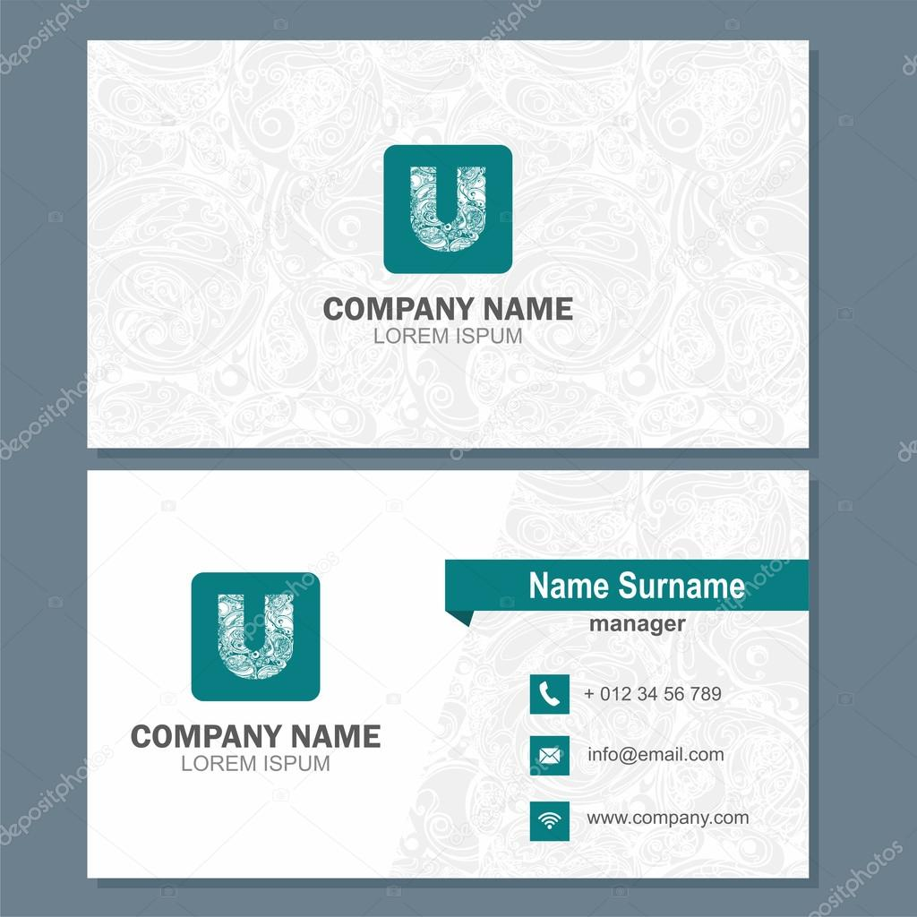Business card or visiting card template with logo element letter business card or visiting card template with logo element letter a multicolor vector design editable photo by lona2010il cheaphphosting Image collections
