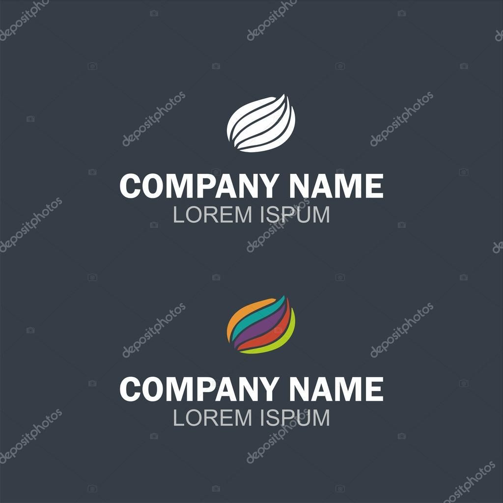 Vector abstract logo design element. Company emblem icon