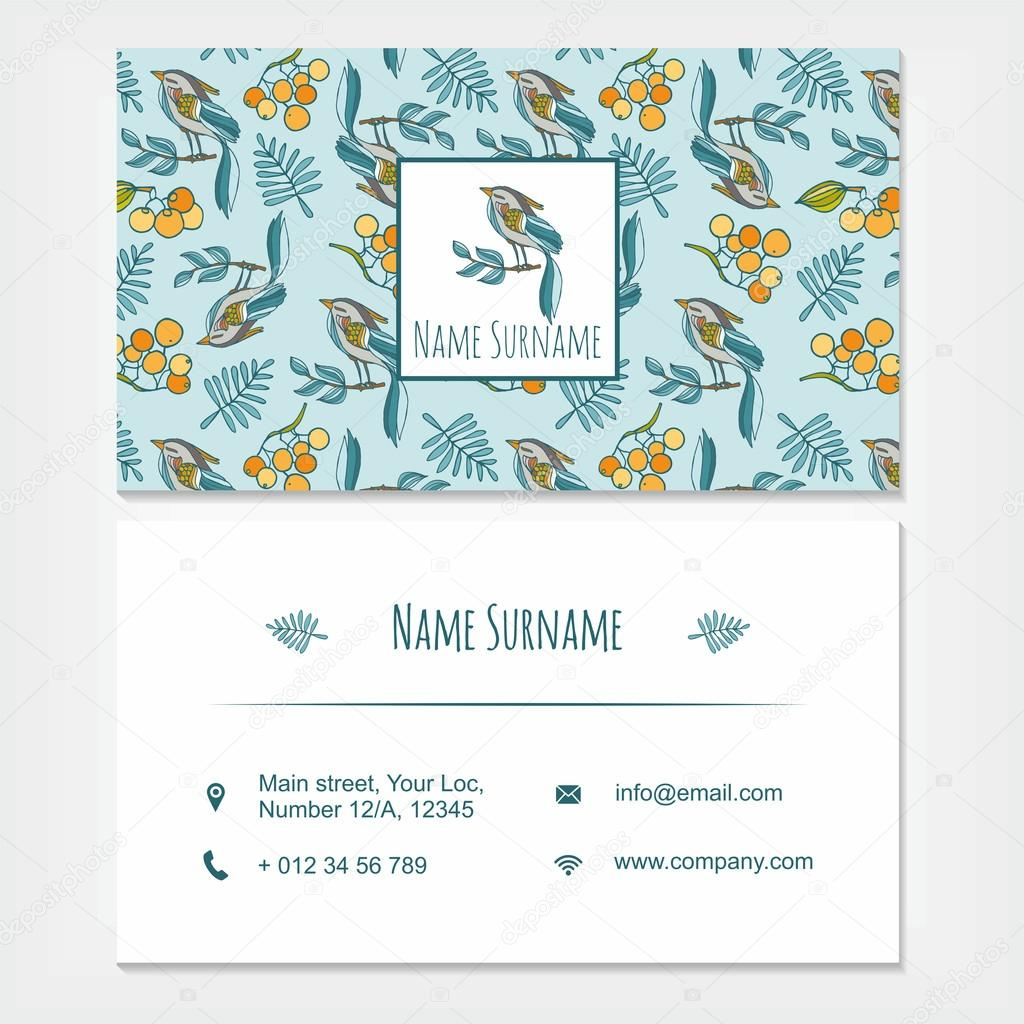 visiting card business card template set