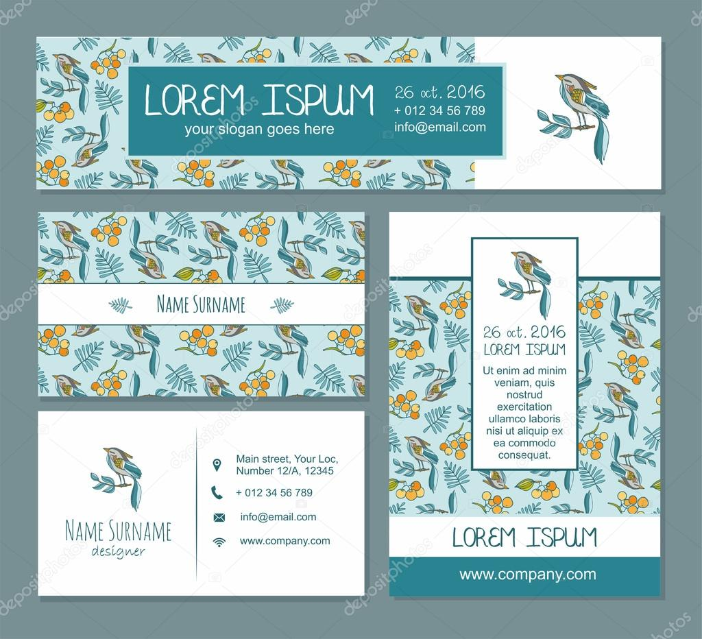 Visiting Card Identity Template Business Card Banner Flyer