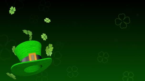 Svatý Patrick den vzorek s jetelem a zelený klobouk