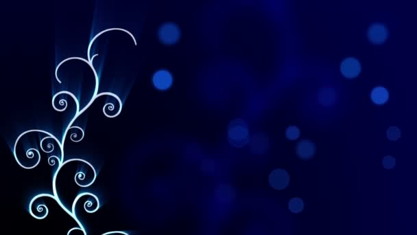 Abstract Blue Shining Arabic Background