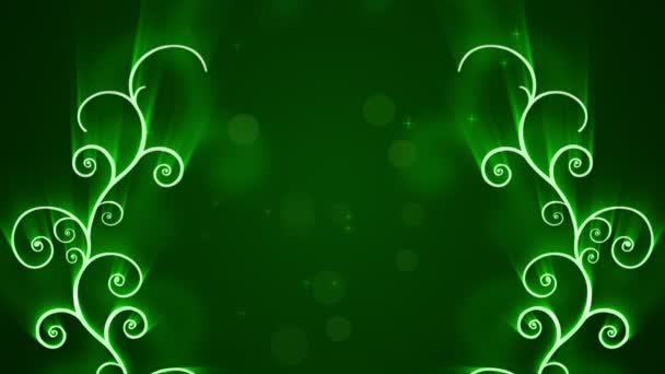 Abstract Green Shining Arabic Background
