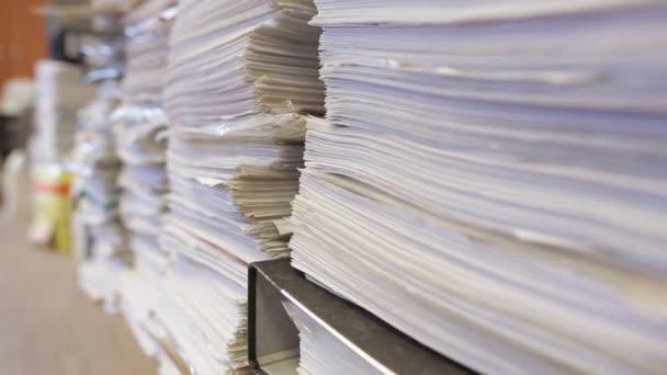 Bureaucracy and paperwork concept.