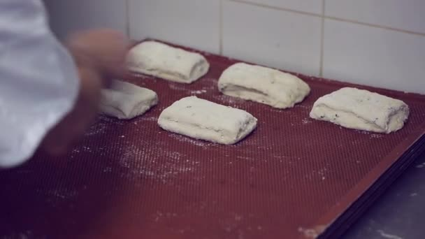 Cooking buns in a bakery