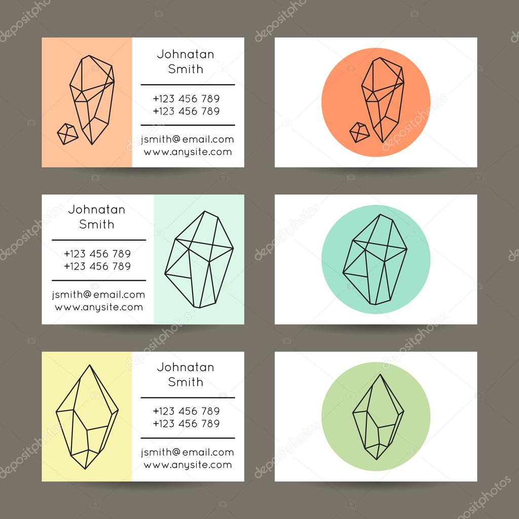 Geometric Shapes Hipster Business Cards — Stock Vector © sanumko ...