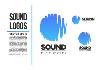 Sound Music logo vector logotype illustration