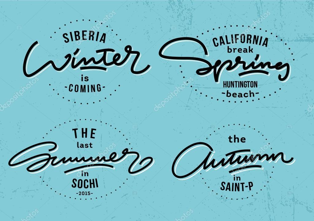 4 temporadas impresiones de letras — Vector de stock © Alabama39 ...