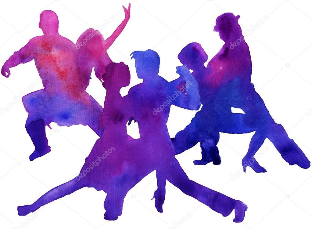 Silueta Hombre Y Mujer: Silueta De Mujer Bailando