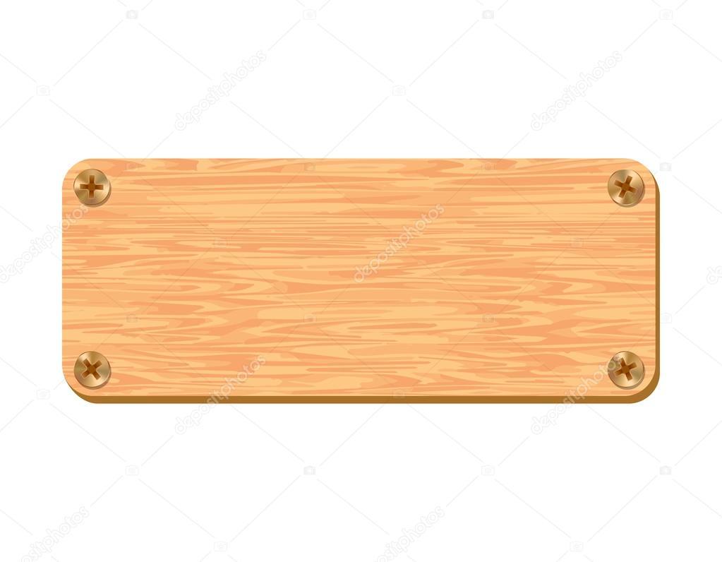 Placa de madera en blanco aislada en fondo blanco dibujo - Placa de madera ...