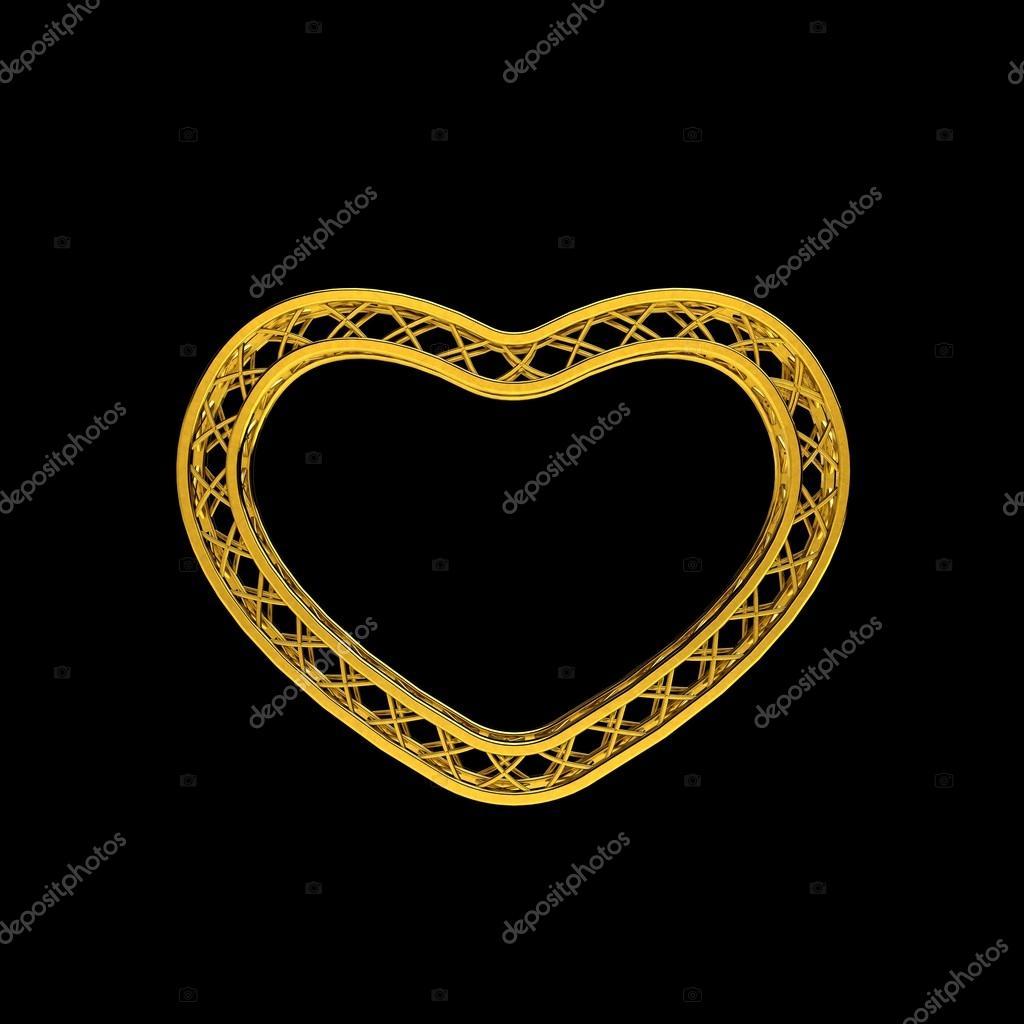 Traversen Rahmen in Form von heart.3d Darstellung Abbildung ...