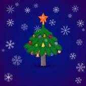 Vánoční smrk strom. Vektorové ilustrace.