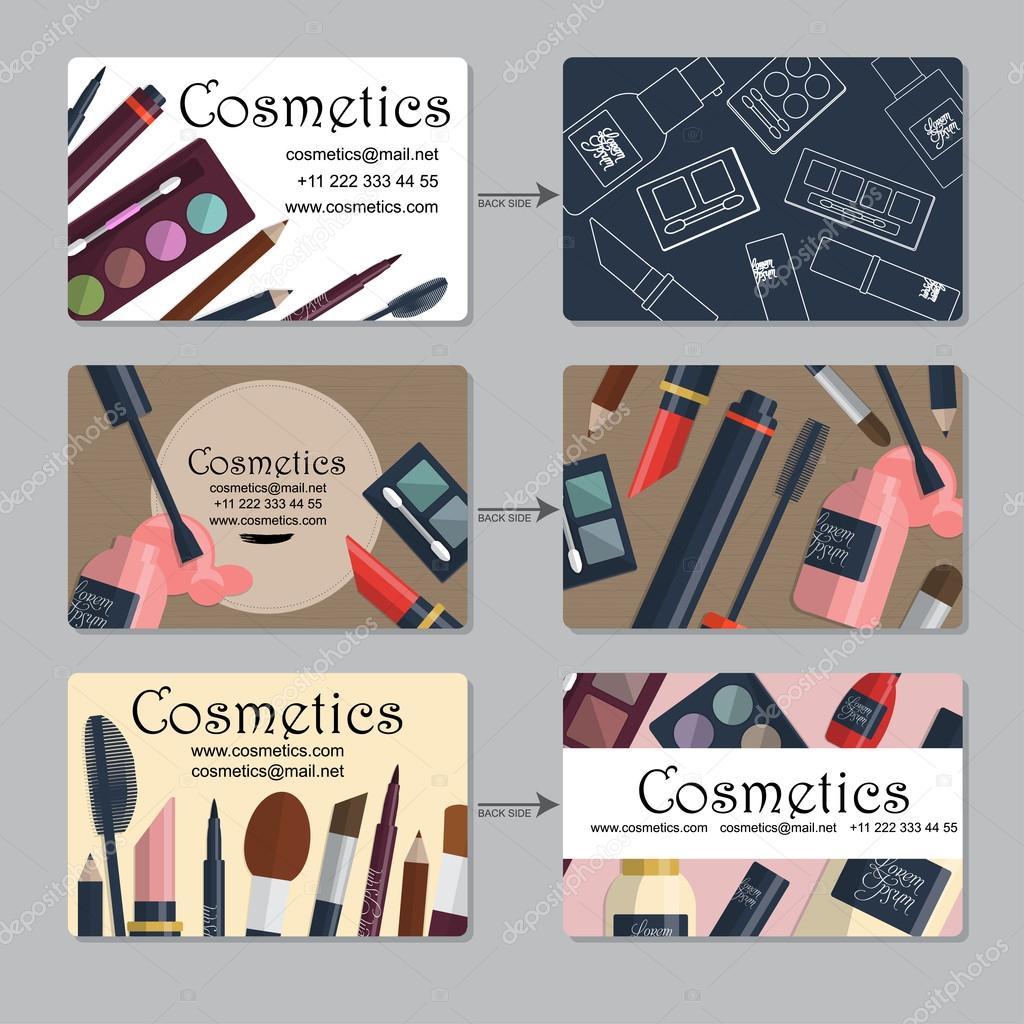 Makeup artist business card set of cosmetics for your design makeup artist business card set of cosmetics for your design vector vetores de reheart Images