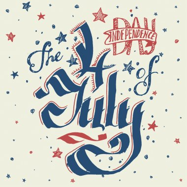 Typography card of Independence Day.