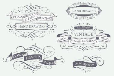 calligraphy design elements.