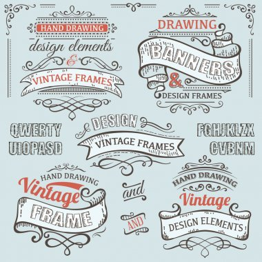 Ai eps10. File grouped and layered. vintage frames clip art vector