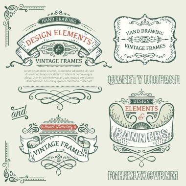vintage frames with design elements
