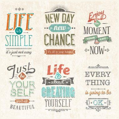 Set Of Vintage Typographic Backgrounds.