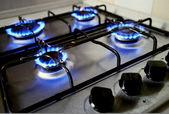 modré plameny z plynový sporák - energetická koncepce