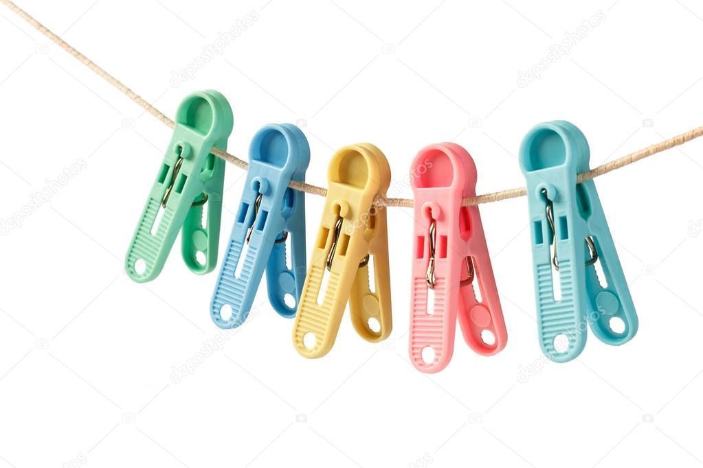 Colgantes coloridos ganchos para tender ropa foto de for Ganchos de aluminio para ropa