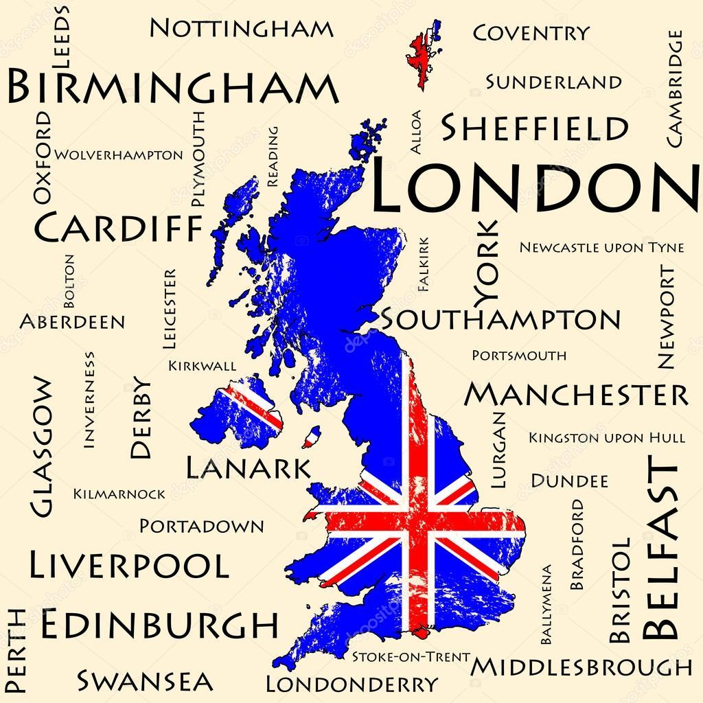 karta över great britain Karta över Storbritannien. Flagga — Stock Vektor © AngelMax #94101078 karta över great britain