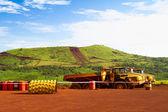Vozíky kloubové vzdálenosti v místě těžby v Africe