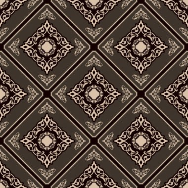 Seamless elegant Ornamental pattern.Ceramic tiles.