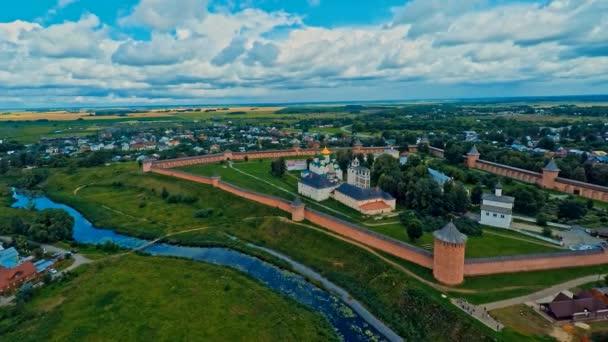 Russia, Suzdal, monastery of Saint Euthymius, shooting (air)