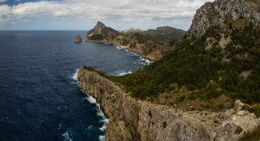 Cape Formentor on sea in Spain