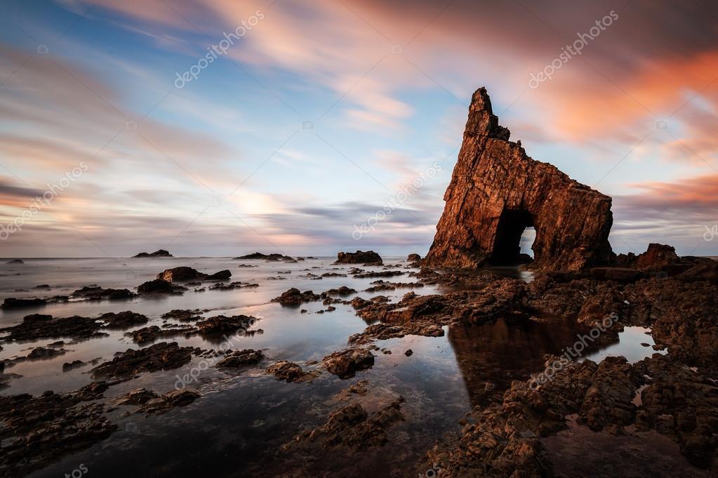 Rocks on Campiecho beach, Spain