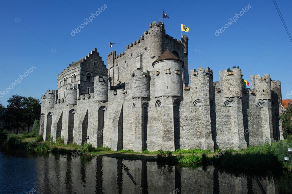 Medieval castle in Ghent, Belgium