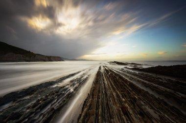 Atlantic ocean coast in Spain