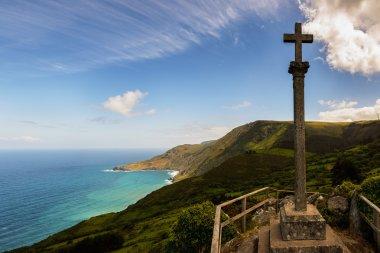 Christian cross on Atlantic Coast