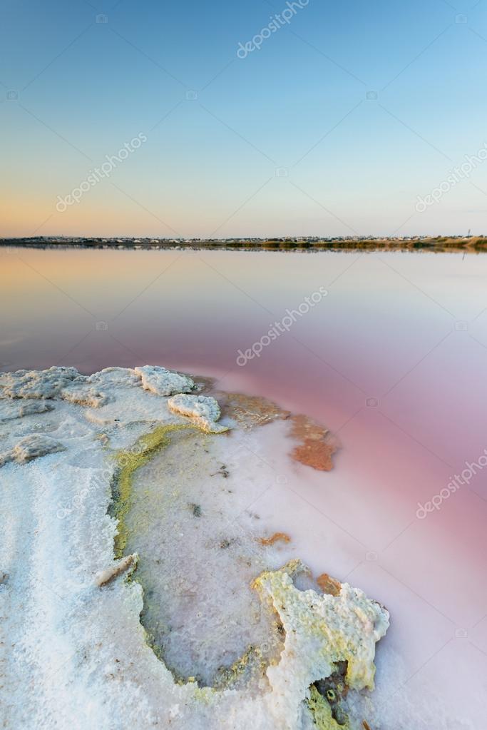 Salinas de Torrevieja lake in Spain