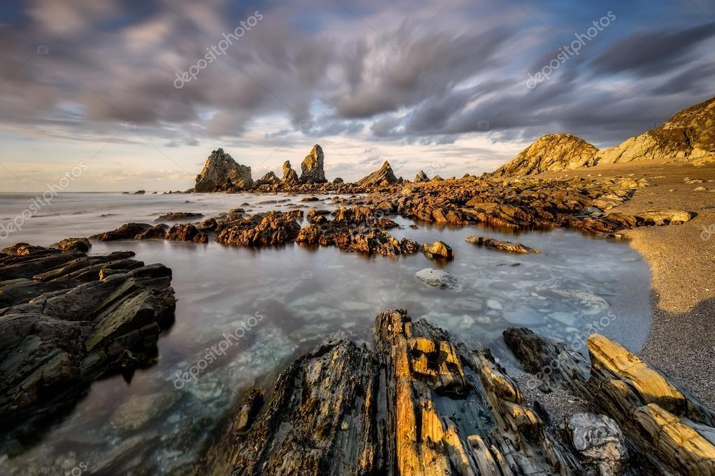 Atlantic coast in northwestern Spain