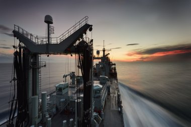 oiler naval ship in sea