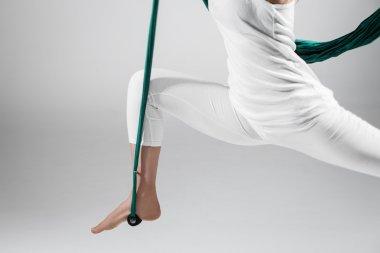 Antigravity Yoga - Close up Stock Image