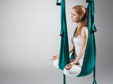 Antigravity Yoga - Stock Image