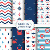 Fotografie Marine seamless patterns for wallpaper, scrapbook and other design
