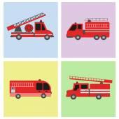 Doprava Fire truck plochý ikona