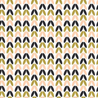 Vector seamless knitting bright abstract pattern