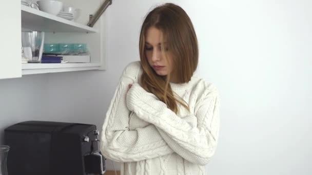 Junges Mädchen krank ist Checing testen